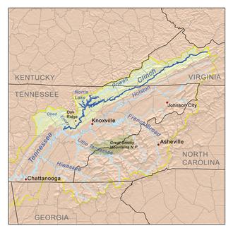 Clinch River - Image: Clinchrivermap