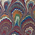 Close detail, Marbled endpaper from Die Nachfolge Christi ed. Ludwig Donin (Vienna ca. 1875) 500ppi (cropped).jpg