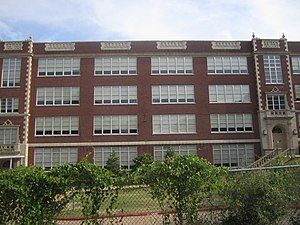 C. E. Byrd High School - Side view of Byrd High School from Kings Highway