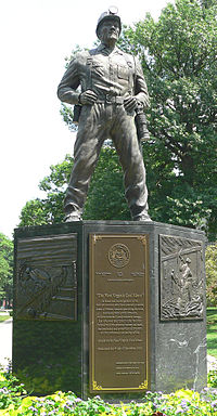 Statue of a coal miner in Charleston, WV, USA.