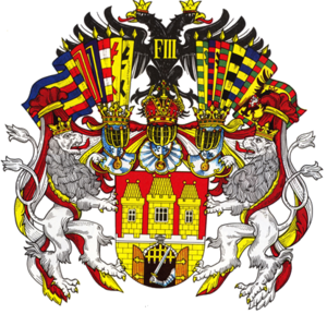 Coat of arms of Prague - Image: Coat of arms of Prague in Austria