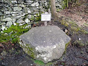Corpse road - A coffin stone at Town End in the Lake District