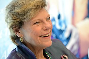 Cokie Roberts - Roberts at the LBJ Presidential Library in 2017