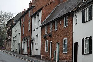 Sutton Coldfield - Listed residential properties at the top of Coleshill Street.