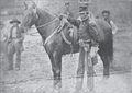 Colonel William H Gibson with horse named Morgan.png