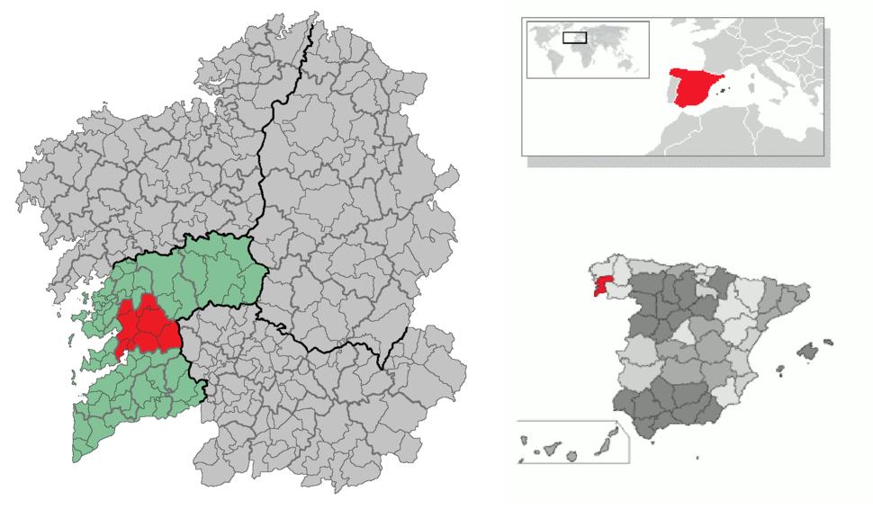 Pontevedra – Mappa