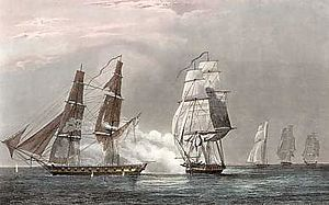 HMS Swallow (1805) - Image: Combat du Renard 5108