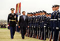 Commander of Troops Col. Thomas M. Jordan escorts Paul Wolfowitz, 2001.jpg
