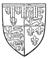 Fig. 725.—Thomas, Duke of Clarence, second son of Henry IV. France and England quarterly, a label of three points ermine. (From his seal, 1413.)