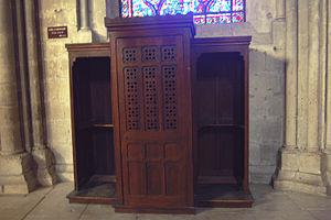 Confessional dans la cathédrale de Bourges