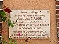 Conflans-sur-Loing-FR-45-mairie-plaque Massu-01.jpg