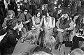 Congres Dolle Mina in jeugdherberg te Arnhem. Sectievergadering met mannen, Bestanddeelnr 923-4040.jpg