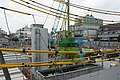 Construction of Chūō Shinkansen Higashi-Yukigaya exit.jpg