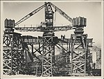 Construction of Span Six of the Sydney Harbour Bridge, 1927 (8282711557).jpg