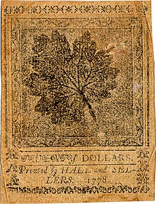 Continental Currency $20 banknote reverse (September 26, 1778).jpg