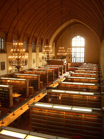 The Cornell Law Library is one of 12 national depositories for print records of briefs filed with the U.S. Supreme Court. Cornell Law School Library.JPG