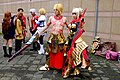 Cosplayers of Gilgamesh and Nero Claudius, Fate Extra CCC at CWT40 20150809a.jpg