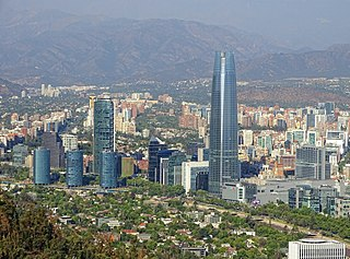 Sanhattan Major business district located in Santiago, Chile