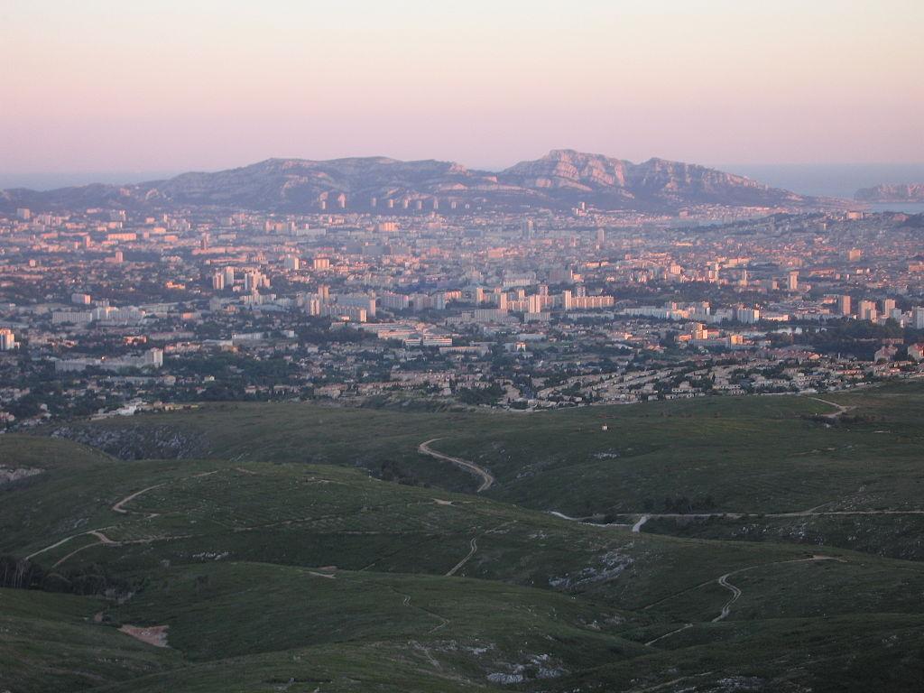 Coucher de soleil sur Marseille.JPG