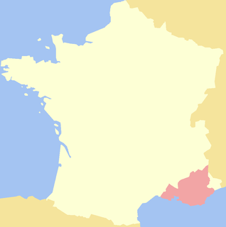 Historical province in Provence-Alpes-Côte d