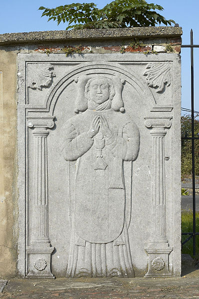 Relief near the entrance of the Saint-Germain church in Couture-Saint-Germain (Lasne), Belgium