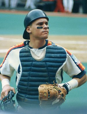 Craig Biggio - Biggio playing catcher in 1990