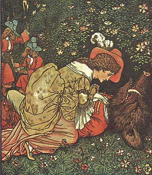 Beauty and the Beast - Illustration for Beauty and the Beast by Walter Crane.