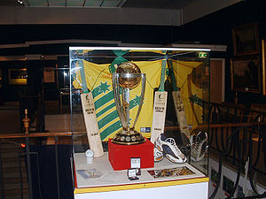 Cricket World Cup Trophy - The ICC Cricket World Cup trophy.