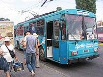 Crimean 52 Simferopol-Alushta-Yalta inter-city trolleybus in Simferopol.jpg