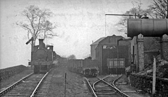 Cromford and High Peak Railway -  Engine-shed at top of Sheep Pasture Incline, 1949