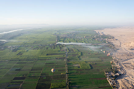 Nile valley near Luxor. Crop limit, Nile Valley-2.jpg