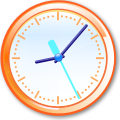 Crystal Clear app clock-orange.svg
