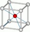 Caesium chloride crystal structure