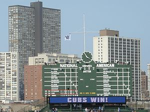 Cubs Win Flag - Image: Cubs Win flag 4 18 08
