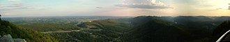 Middlesboro crater - Panoramic view from Pinnacle Overlook at Cumberland Gap National Historic Park