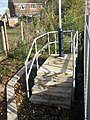 Curious staircase at the very end of Bedhampton Station - geograph.org.uk - 1055769.jpg