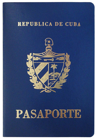 Cuban passport - The front cover of a contemporary Cuban passport.