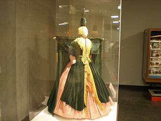 "Bob Mackie - The curtain dress, worn by Carol Burnett in ""Went with the Wind!"" on The Carol Burnett Show, a parody of Gone With The Wind."