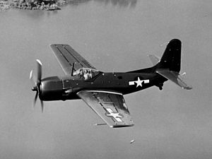 Curtiss XBT2C-1 in flight c1945.jpg