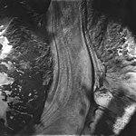 Cushing Glacier, valley glacier with dark lateral moraines, August 22, 1979 (GLACIERS 5367).jpg