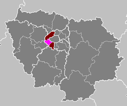 Location of Boulogne-Billancourt in Île-de-France