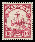 Timbre allemand des îles Samoa en 1900