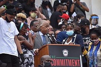 Al Sharpton led the Commitment March: Get Your Knee Off Our Necks protest on August 28, 2020 DSC 0008 (50283939071).jpg