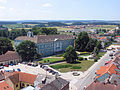 Dacice chateau from church tower.jpg
