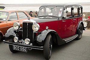 Daimler Fifteen - 4-door six-light saloon registered January 1935