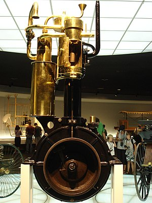 Daimler Reitwagen - The Daimler-Maybach grandfather clock engine of 1885