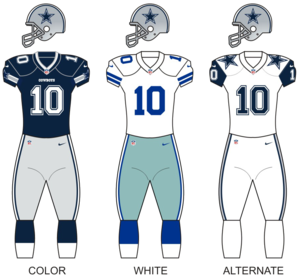 2017 Dallas Cowboys season - Image: Dallas Cowboys Uniforms 2016 Season