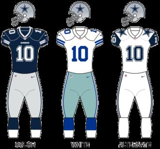 2016 Dallas Cowboys season - Image: Dallas Cowboys Uniforms 2016 Season