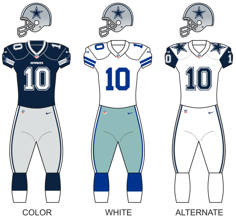Dallas Cowboys Uniforms - 2016 Season