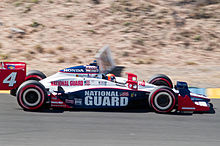 Wheldon a Sonoma nel 2010 su Dallara - Honda del team Panther Racing